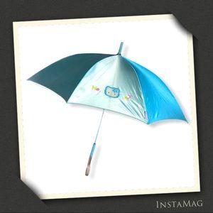 HELLO KITTY Shiny Pale Blue Umbrella